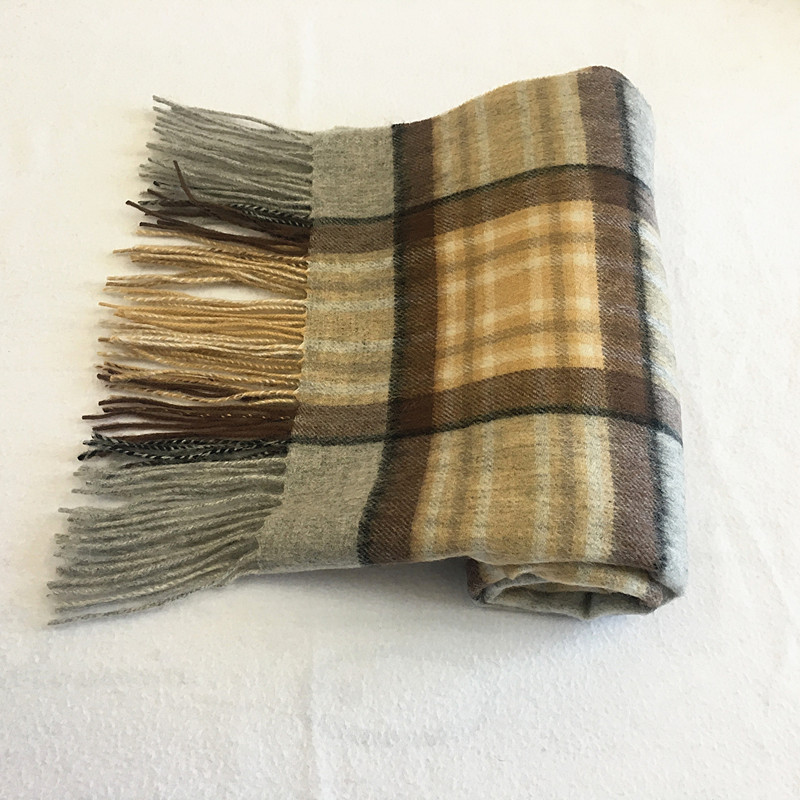 100% Wool Checked Scarf