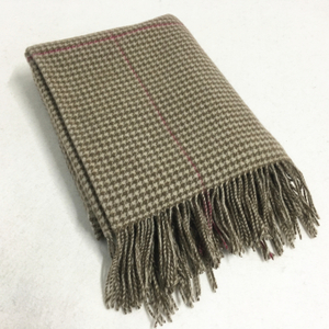 100% Wool Oversize Plaid Blanket