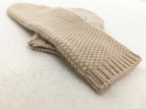 Knitted Cashmere Mittens for Women