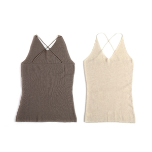 Strap Sleeveless Cashmere Sweater