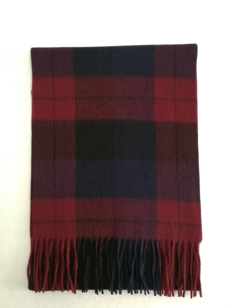 100%Wool Checked Scarf