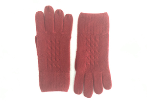 Cashmere Cable Knitted Gloves