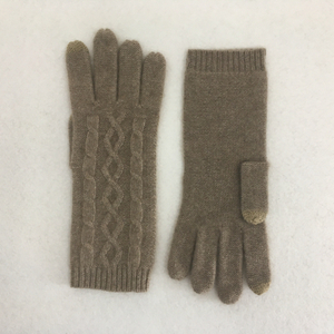 Diamond Shapes Cashmere Gloves with Touch Screen Function for Women