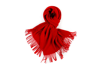 Plain Hollow Out Knitted Cashmere Scarf