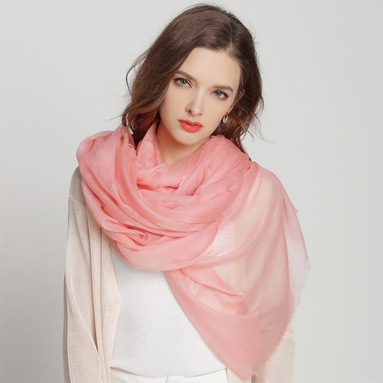 Light Weight Solid Color Cashmere Scarf