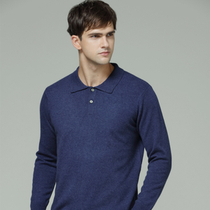 Men Collar Neck Cashmere Sweater