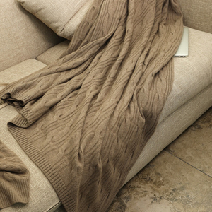 King Size Solid Color Cashmere Blanket
