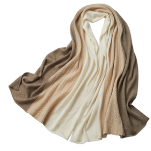 Cable Knitted Cashmere Scarf