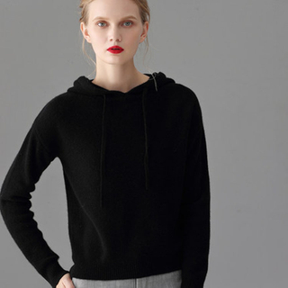 Lady Cashmere Hoodies Sweater