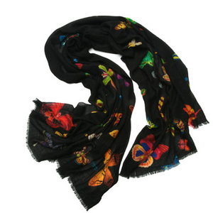 Photo Print Cashmere Scarf