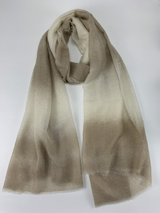 There Colors Dip Dye Cashmere Scarf
