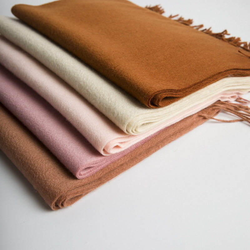Solid Color Cashmere Scarf for Spring