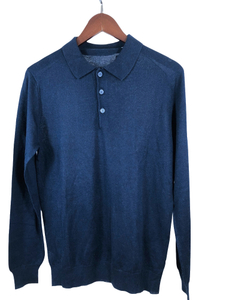 Men's Polo Silk&Cashmere Sweater