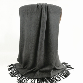 Cashmere Double Side Shawls, Charcoal