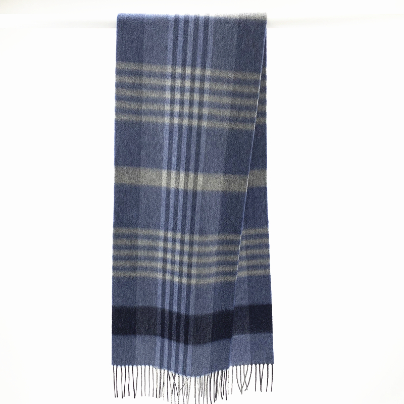 100%Cashmere Checked Scarf