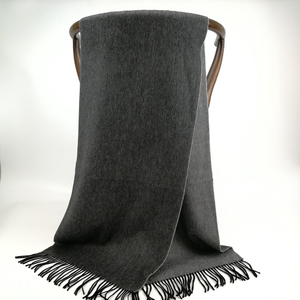 Cashmere Small Double Side Shawls, Black&Steel