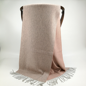 Cashmere Small Double Side Shawls, Grey&Pink